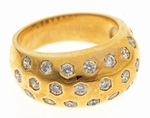 Bombay Burnish Set Round Cubic Zirconia Domed Band