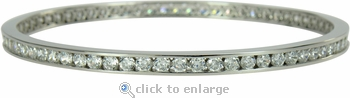 Branson Channel Set Round Cubic Zirconia Bangle Bracelet