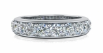 Burke 4 Carat Round Cubic Zirconia Pave Set Cathedral Split Shank Wedding Set