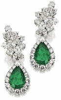 Casserra 6 Carat Pear Cubic Zirconia Pave Halo Drop Cluster Earrings