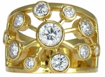 Celestia .75 Carat Bezel Set Round Center Cubic Zirconia Band