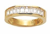Channel Set Baguette Cubic Zirconia Anniversary Band
