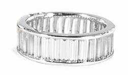 Channel Set Baguette Cubic Zirconia Eternity Bands