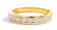 Channel Set Cubic Zirconia Round Anniversary Bands