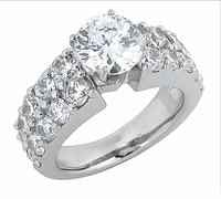 Chase 2.5 Carat Round Cubic Zirconia Double Row Channel Set Solitaire Engagement Ring