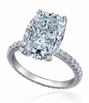 Cheyenne 9 Carat Elongated Cushion Cut Cubic Zirconia Eternity Band Solitaire Engagement Ring