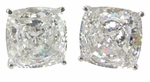 Christopher 5.5 Carat Each Cushion Cut Cubic Zirconia Cufflinks