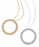 Circle of Love Pave Set Round Cubic Zirconia Pendants