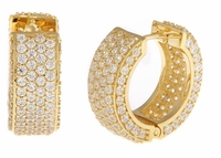 Cirelli Large Cubic Zirconia Huggie Hoop Earrings