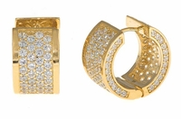 Cirelli Small Cubic Zirconia Huggie Hoop Earrings