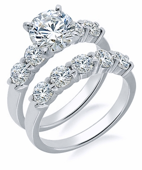 Clearance Cubic Zirconia Wedding Ring Bridal Sets On Sale