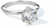 Cubic Zirconia Classic Solitaire Engagement Rings