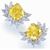 Cubic Zirconia Cluster Earrings, Cocktail Earrings