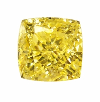 Cushion Cut Square Canary Yellow Diamond Look Cubic Zirconia Loose Stones