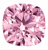Cushion Cut Square Pink Diamond Look Cubic Zirconia Loose Stones