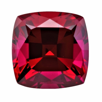 Cushion Cut Square Ruby Lab Created Synthetic Loose Stones