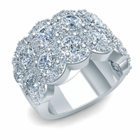 Designer Cubic Zirconia Anniversary Bands, Wedding Rings, Eternity Rings, Right Hand Rings and Personalized Rings