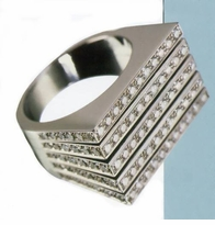 Designer Cubic Zirconia Anniversary Bands, Wedding Rings, Right Hand Rings and Personalized Rings
