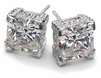 Designer Cubic Zirconia Stud Earrings