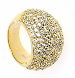 Domiani Pave Cubic Zirconia Domed Designer Band