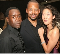 Don Cheadle, Michael Boltman and Sandra Oh