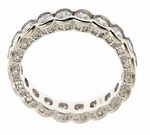 Dorsey Semi Bezel Set Round Cubic Zirconia Eternity Band