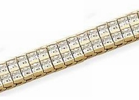 Double Row Princess Cut Channel Set Cubic Zirconia Bracelet