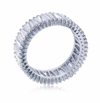 Dovetail Tapered Baguette Cubic Zirconia Eternity Band