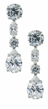 Dupont Pear Round Marquise Cubic Zirconia Drop Earrings