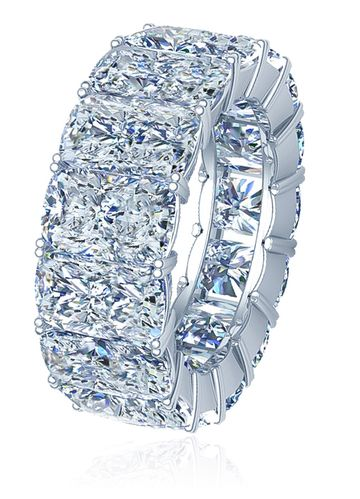 Elongated Cushion Cut 1 Carat Each Cubic Zirconia Four