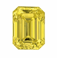 Emerald Cut Canary Yellow Diamond look Cubic Zirconia Loose Stones