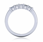 .50 Carat Each Emerald Cut Shared Prong Set Cubic Zirconia Anniversary Band