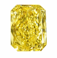 Emerald Radiant Cut Canary Yellow Diamond Look Cubic Zirconia Loose Stones