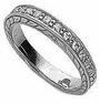 Engraved Pave Set Cubic Zirconia Round Anniversary Band