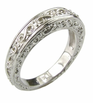 Fairmont Victorian Antique Estate Style Engraved Wedding Band