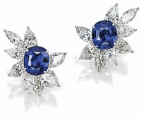 Fantasma 7 Carat Cushion Emerald Cut Cubic Zirconia Pear Marquise Cluster Earrings
