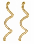 Faviola Micro Pave Set Round Cubic Zirconia Curled Drop Earrings