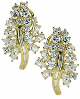 Floria Cubic Zirconia Marquise Pear Round Baguette Floral Cluster Earrings