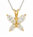 Flutter Butterfly Marquise Cubic Zirconia Pendant