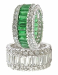 Fonseca Wide Baguette And Round Cubic Zirconia Eternity Band