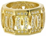 Francais Pave Set Round Cubic Zirconia Eternity Band
