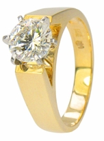 Francois 1.25 Carat Cubic Zirconia Round Cathedral Style Solitaire Engagement Ring