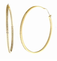 Grande Cubic Zirconia Hoop Earrings