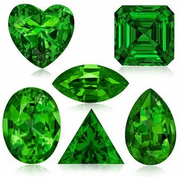 Green Emerald Lab Created Man Made Simulated Loose Stones