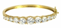 Greta Graduated Round Cubic Zirconia Bangle Bracelet Large Version