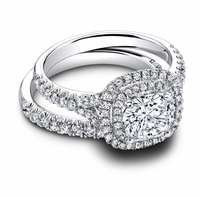 Halo Bridal Wedding Ring Sets