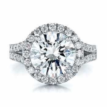 Halo Style Cubic Zirconia Rings