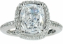 Hamilton Micro Pave Set Halo Eternity Engagement Ring Collection <br>Available in various shapes