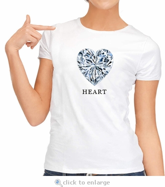 Heart Diamond Shape T-Shirt