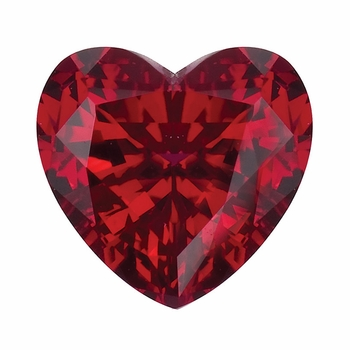 Heart Shape Ruby Lab Created Synthetic Loose Stones